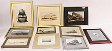 Group of 10 Framed Train Photographs