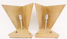Pair of Mid-Century Modern Wood Table Lamps