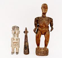 Three Carved African Figural Statues