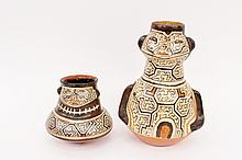 Two Shipibo Pottery Jars