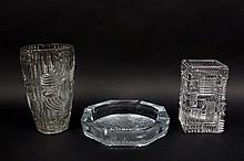 Group of Three Modern Glass & Crystal Items