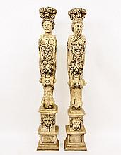 Pair of Figural Pedestals