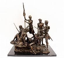 French Infantry Bronze Figural Sculpture