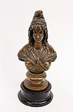 French Bronze Bust Female Allegorical Sculpture