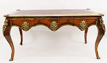 Louis XVI Style Bureau Plat w/Bronze Mounts
