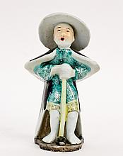 Standing Porcelain Figure with Hat