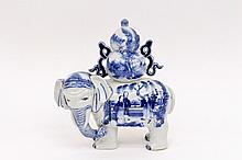 Chinese Export Porcelain Elephant