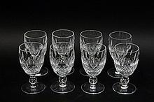 Set of Eight Waterford Crystal Cordials