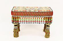 Mackenzie-Childs Tapestry Bench