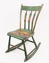 19th C. American Primitive Rocking Chair