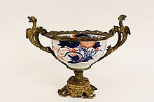 Chinese 19th Porcelain Bowl w/Bronze Mounts