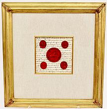 Five Framed Intaglios on Document