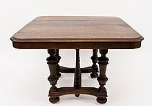 Oak Table with Bun Feet