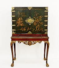 E. 20th C. George II Style Cabinet on Frame