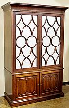 Large Cabinet with Mirrored Doors