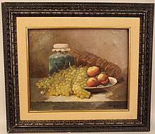 E. 20th C. Oil on Canvas - Still Life