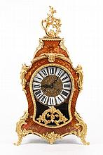 Louis XV Style Gilt Metal Mounted Marquetry Clock