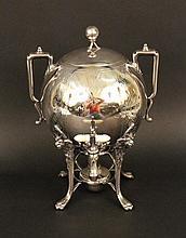 Silverplated Ball Form & Handled Samovar