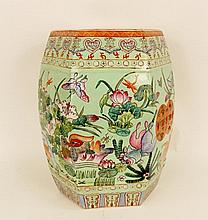 Maitland Smith Oriental Decorated Garden Seat