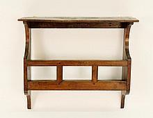 19th C. Oak Wall Shelf