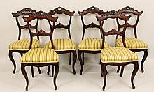 Set of Six Mahogany Side Chairs