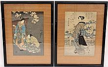 Two 19th C. Japanese Ukiyo-e Woodblock Prints