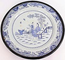 Large Chinese Blue & White Charger