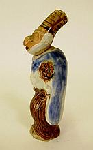 Mid-19th C. Hirado Monkey Nodder Netsuke