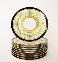 Set of 10 C. Ahrenfeldt, Limoges Dessert Plates