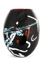 Art Glass Vase 'Crossed Pathes