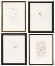 Collection Of Four Steve Penley Original Sketches