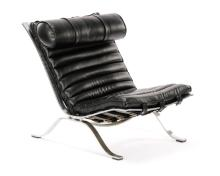 Attributed to Arne Norell Black Leather ARI Chair
