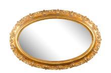 Continental Regal Oval Giltwood Wall Mirror