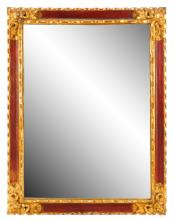 Italian Paint Decorated Rectangular Wall Mirror