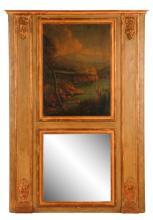 Louis XVI Trumeau Mirror With Lakeside Scene