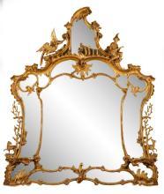 Extraordinary George III Giltwood Girandole Mirror