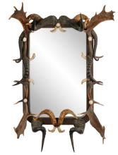 Anthony Redmile Large Horn And Antler Mirror, 1970