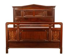 Edwardian Inlaid Double Bed, T. Simpson & Son