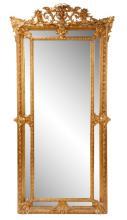 Large Renaissance Revival Style Giltwood Mirror