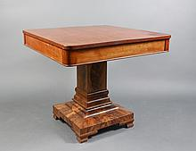 American Empire Center Table with Stained Top