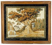 Mythological Embroidery Panel, Antigone, 19th C.