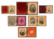 Group Of 6 Daguerreotypes, Tintypes And Ambrotypes