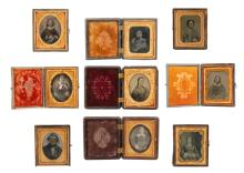 Group Of 9 Daguerreotypes, Tintypes And Ambrotypes