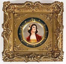 Gilt Framed Royal Vienna Portrait Plate, L. Jackl