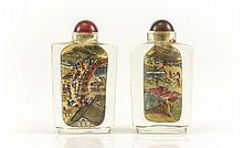 2 Chinese Reverse Painted Snuff Bottles