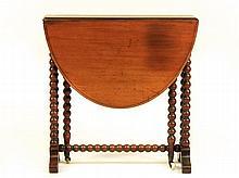 Mahogany Oval Drop Leaf Gate Leg Table, 20th C.