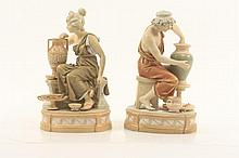 Pair of Royal Dux Figurines, Classical Potters