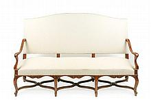 French Provincial Walnut Settee, 18th C.