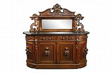 American Rococo Revival Mirrored Back Sideboard