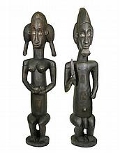 Pair of Large Decorative African Fertility Statues